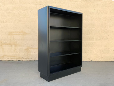 Mid Century AllSteel Tanker Bookcase Refinished in Matte Black