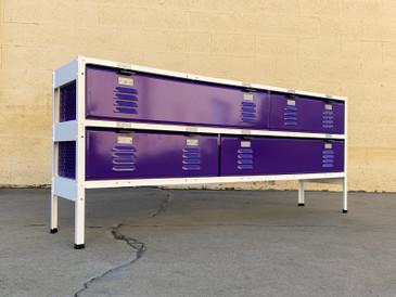 Custom 5 x 2 Locker Basket Unit with Specialty Triple Wide Baskets