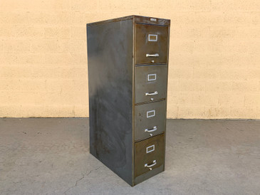 Mid Century Steel File Cabinet with Aluminum Hardware by Fortress, Free U.S. Shipping