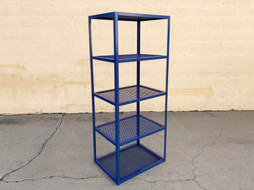 Sample Sale - Four-Tier Expanded Metal Shelf Unit, Custom Made in Navy Blue
