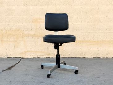 Vintage Steno Task Chair by Harter, Refinished in Gray