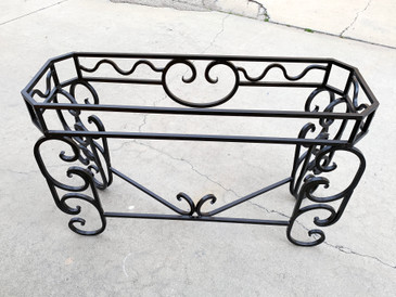 Vintage Custom Steel Console Base, Spanish Colonial Style
