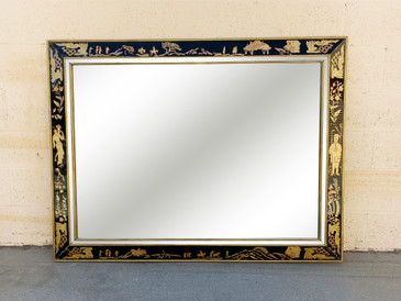 1920s Art Deco Framed Mirror with Chinese Motif