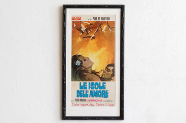 SOLD - 1970 Italian Movie Poster, Le Isole Dell'Amore, R. Gasparri