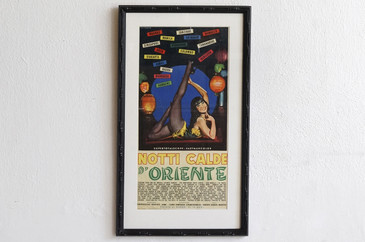 SOLD - 1962 Italian Movie Poster, Notti Calde d'Oriente