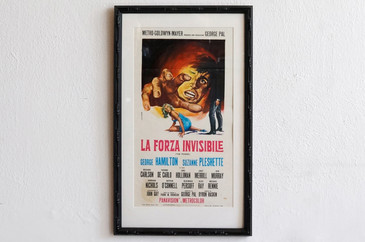 SOLD - 1968 Italian Movie Poster, La Forza Invisible, G.R. Stefano (Unframed)
