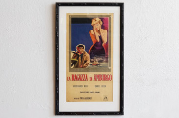 SOLD - 1960 Italian Movie Poster, La Ragazza Di Amburgo