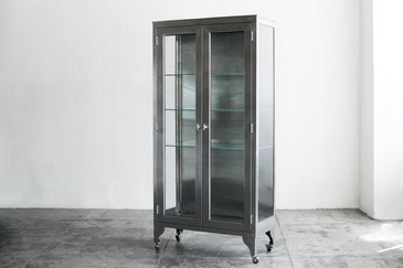 SOLD - Stainless Steel Medical Cabinet, c. 1960s