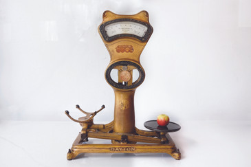 SOLD - Antique Cast Iron Shop Scale by Dayton Ohio Scale Co.