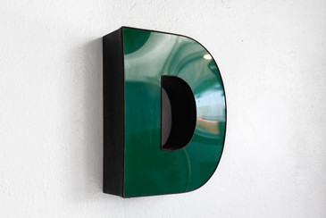 "SOLD - Vintage Channel Letter ""D"" in Forest Green - Large"