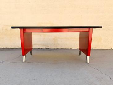 1960s AllSteel Panel Leg Tanker Table, Custom Refinished to Order, Call for Availability