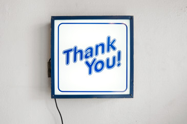 "SOLD - Vintage "" THANK YOU!"" Light Box Store Sign"