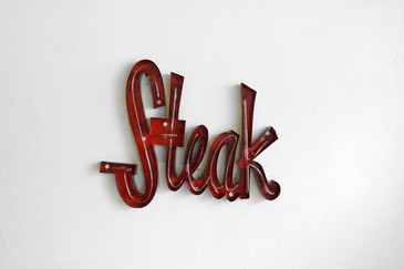 "SOLD - Retro Neon ""STEAK"" Sign, 1960s"