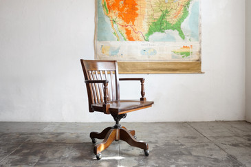 SOLD - Classic Wood Lawyer's Chair by Taylor Chair Company, c. 1940s