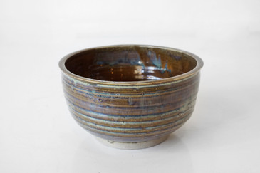 SOLD - Vintage Ceramic Bowl with Earthtone Glaze