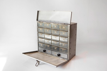 "SOLD - 1960s Multi-Drawer, Carry-All, Industrial Steel Toolbox, ""KIT-A"""