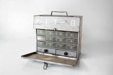 "SOLD - 1960s Multi-Drawer, Carry-All, Industrial Steel Toolbox, ""KIT-B"""