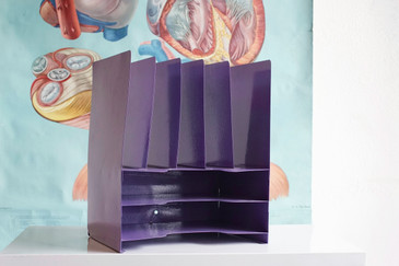 SOLD - Space Age Desktop File Holder, Refinished in Lilac