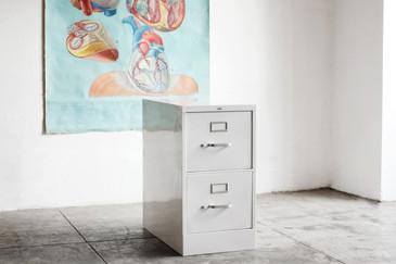 SOLD - Vintage Vertical Filing Cabinet, Refinished