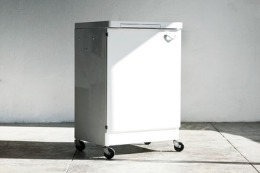SOLD - 1960s Steel Medical Cabinet, Refinished