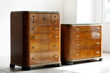 SOLD - Art Deco Dresser Set by Rockford, 1930s