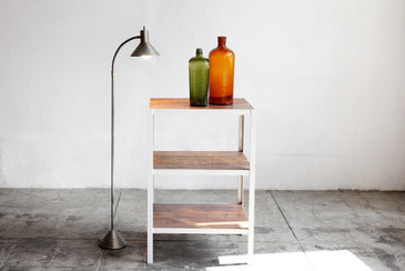 SOLD - Custom Built Shelving Unit, Steel and Reclaimed Wood