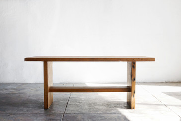 SOLD - Reclaimed Antique Oak Coffee Table/ Bench