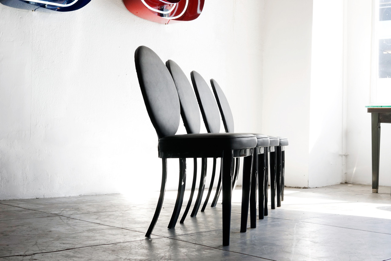 ... Hollywood Regency Style Dining Chairs, Refinished. Image 1
