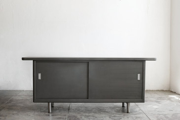 1960s Steel Open Credenza, Refinished - RARELY AVAILABLE