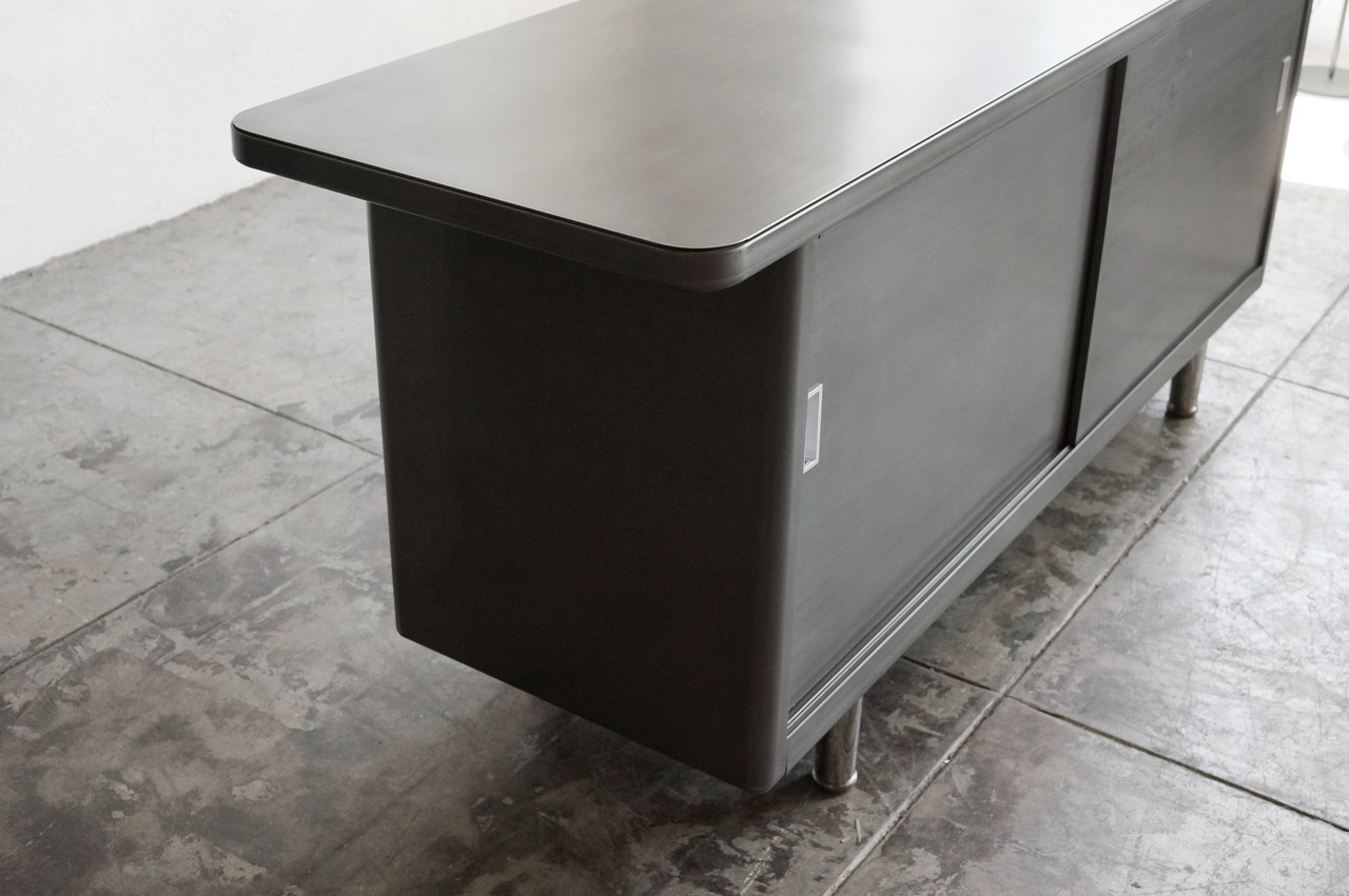 1960s Steel Open Credenza Custom Refinished To Order