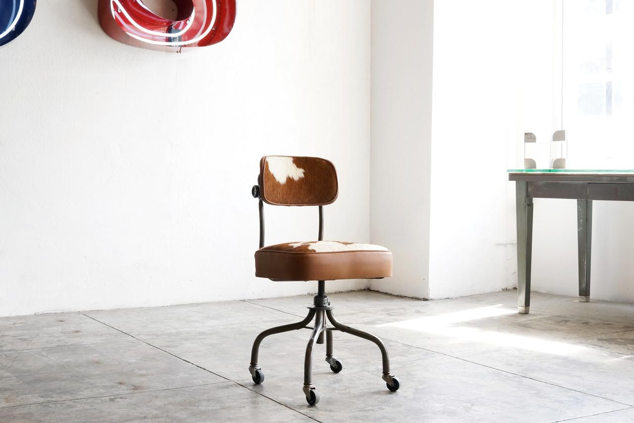 Sold 1940s Steelcase Task Chair In Cowhide