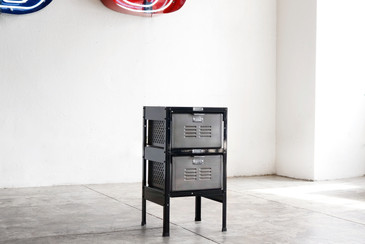 1 x 2 Vintage Locker Basket Unit, Refinished