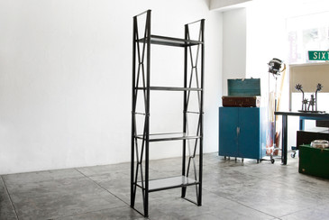 SOLD - Mid Century Vintage Industrial Shelving Unit