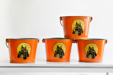 SOLD - Antique Steel Buckets from the Ranch of Lorne Greene