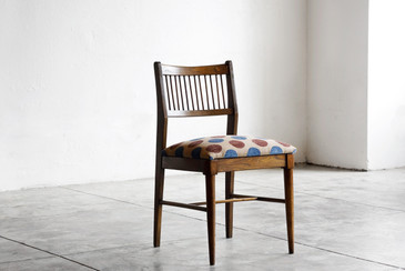 SOLD - Danish Modern Wood Side Chair, Reupholstered