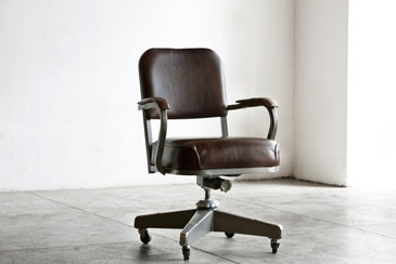 SOLD - 1960s Solid Back Steno Chair by McDowell Craig, Refinished