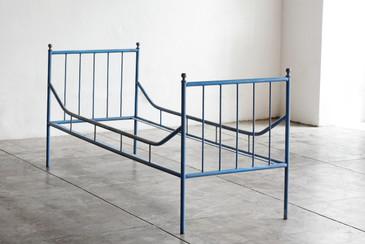 SOLD - Vintage Industrial Steel Bed Frame, 1920s