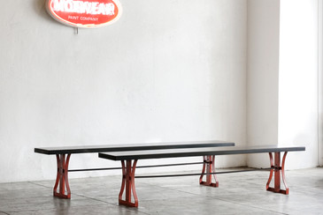 SOLD - Custom Made Vintage Industrial Benches
