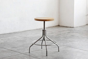 SOLD - Sputnik Drafting Stool by Environment, Refinished