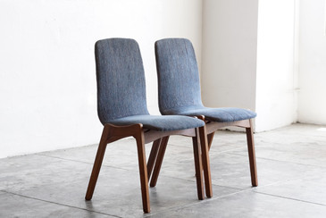 SOLD - Pair of Mid Century Dining Chairs by Foster McDavid