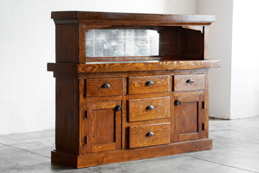 SOLD - American Craftsman Cabinet with Mirror, c. Early 1900s