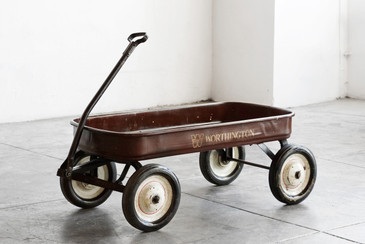 SOLD - 1950s Child's Pull Wagon with Worthington Logo