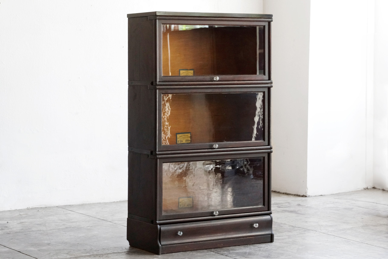 Sold Globe Wernicke Antique Lawyer Bookcase In Oak Circa 1900
