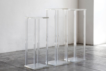SOLD - Vintage Modern Lucite Display Pedestals, c. 1970s