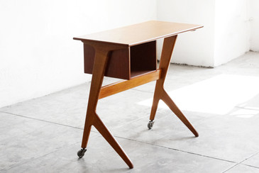 SOLD - Danish Modern Modular Desk, Oak