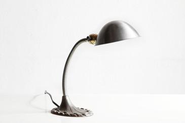 SOLD - Art Deco Gooseneck Table Lamp, Refinished