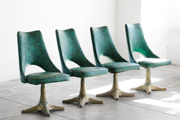 SOLD - Set of 4 Chairs by Chrome Modern Los Angeles, 1960s