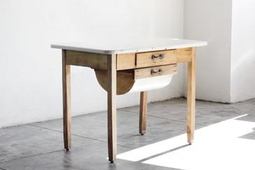 SOLD-Primitive Possum Belly Baker's Table