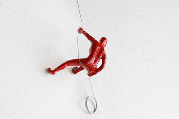 SOLD - Wall Climber in Red by Ancizar Marin