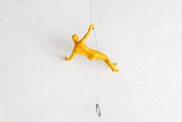 SOLD - Wall Climber in Yellow by Ancizar Marin